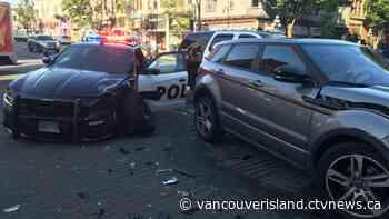 Dashcam video shows Victoria police car run red light, strike SUV - CTV News VI