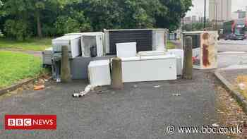 Rubbish dumped in Birmingham canal and parkland