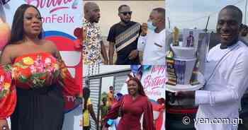 Zionfelix holds 3-in-1 party with Ellen White, Funny Face, Moesha, Gloria Sarfo, other celebs (videos) - YEN.COM.GH