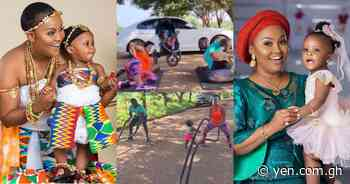 Baby Maxin: McBrown's daughter stirs laughter as she 'trains' with her mother in new video - YEN.COM.GH