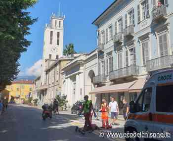 Pinerolo: pedone investito da uno scooter a due passi dal municipio - L'Eco del Chisone