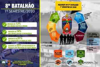 8º Batalhão divulga resultados do balanço do primeiro semestre de 2020 - Colatina em Ação