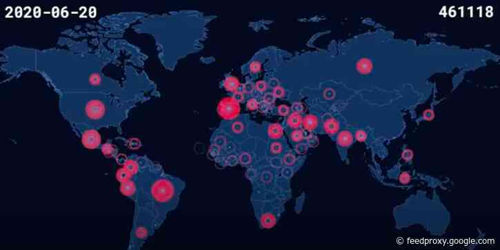 A Chilling Time-Lapse Video Documents Every COVID-19 Death on a Global Map: From January to June 2020