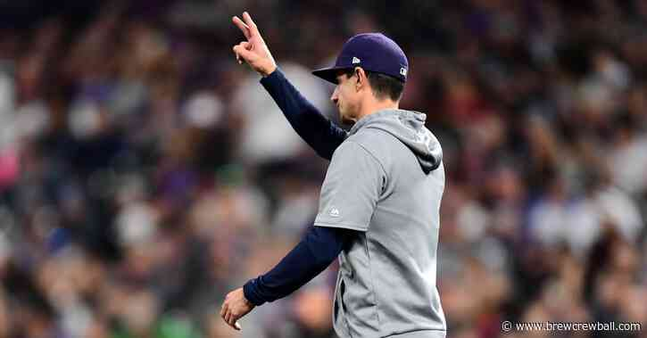 Craig Counsell will have to use his September pitching strategy at the outset of 2020