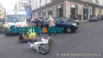 Giarre, scontro tra auto e scooter in corso Matteotti: due feriti - Gazzettinonline
