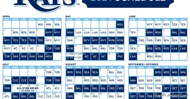 Rays release 2021 regular season schedule