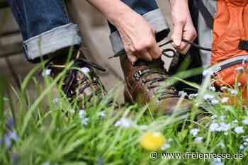 Wanderer schnüren ihre Schuhe für das Stadtjubiläum - Freie Presse