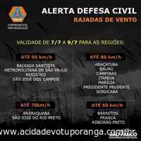 Votuporanga e região podem ter rajadas de vento de até 70km/h, alerta Defesa Civil - Jornal A Cidade - Votuporanga