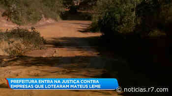 Prefeitura de Mateus Leme (MG) processa empresas por calote - HORA 7
