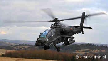 Defensie oefent met Apache gevechtshelikopters en eenheden van Koninklijke Landmacht - DMG Deurne