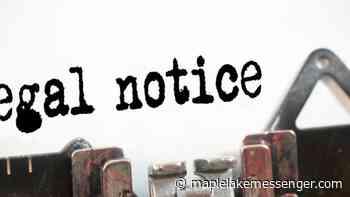 Silver Creek Township Public Notice - Maple Lake Messenger