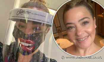 Lisa Armstrong returns to work in Louis Vuitton inspired face mask and PPE shield - Daily Mail