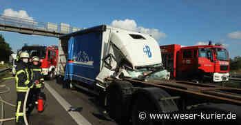 Autobahn 1 bei Oyten: Vollsperrung nach Auffahrunfall - WESER-KURIER