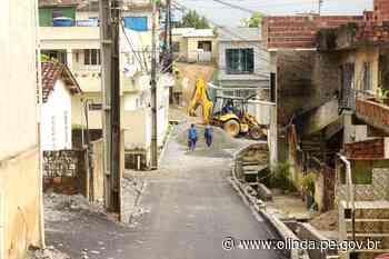 Obras em avenida de Cidade Tabajara, em Olinda, entram na fase de conclusão - Prefeitura de Olinda