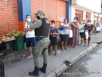Operação integrada contra o Coronavírus age em vários bairros de Olinda nesta terça-feira - Prefeitura de Olinda