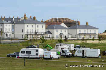 Travellers invade Prince Charles' 'model town' of Poundbury in Dorset and set up camp - The Sun