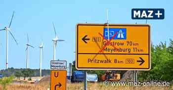 Falkenhagen: Sanierung der Bundesstraße 103 geht weiter - Märkische Allgemeine Zeitung