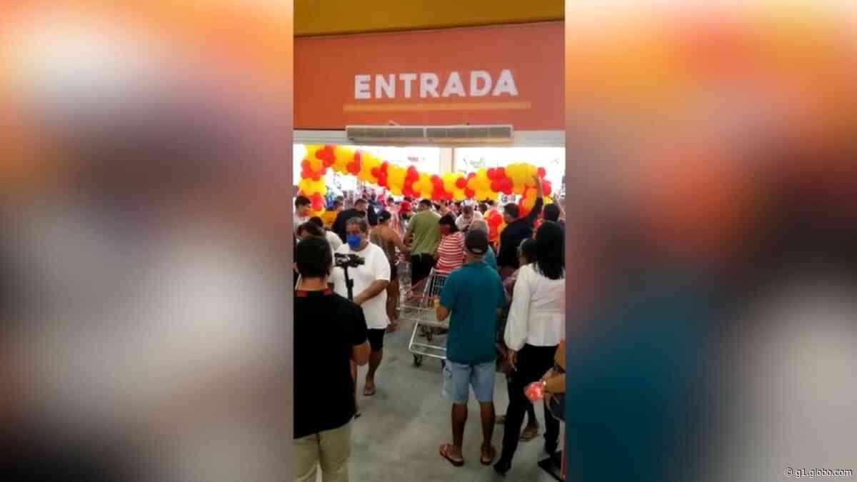 Inauguração de supermercado causa aglomeração na Grande Natal - G1