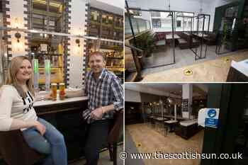 Glasgow pub shows what going for pint will look like from July 15 with pods for customers and a huge screen - The Scottish Sun