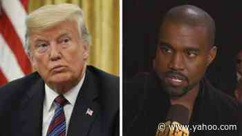 President Donald Trump Says Kanye West's Presidential Bid is a 'Trial Run' for 2024 - Yahoo Entertainment