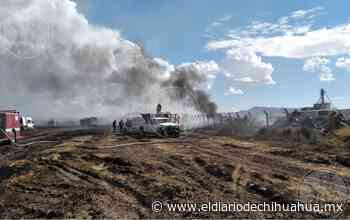 Se registra incendio de llantas en Lechería Zaragoza - El Diario de Chihuahua