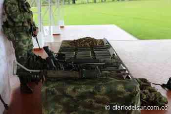 Ejército destruyó depósito ilegal de las disidencias en El Tambo, Cauca [VIDEO] - Diario del Sur
