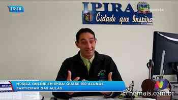 Música on-line em Ipira: quase 150 alunos participam das aulas - ND