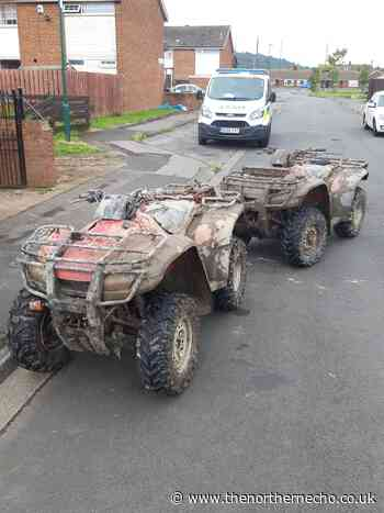 Police seize two quad bikes believed to be stolen in Eston - The Northern Echo