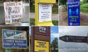 Social media users share snaps of VERY funny signs they've spotted - Daily Mail