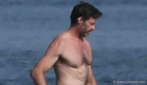 Hugh Jackman Goes Shirtless at the Beach in the Hamptons