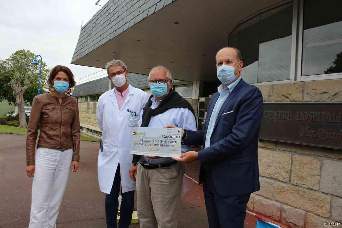 Hôpital de Paimpol : 2 600 € de dons partagés entre tous les services - actu.fr