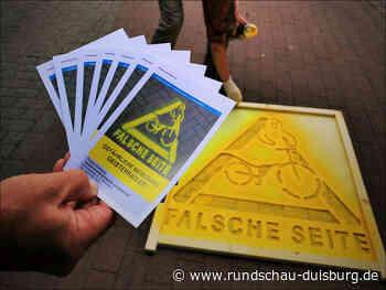 """""""Duisburg. Aber sicher!"""" – Kampagne """"Geisterradler"""" ist weiterhin aktiv - Rundschau Duisburg"""