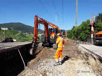 Le tronçon Delémont-Delle subit d'importants travaux - RFJ