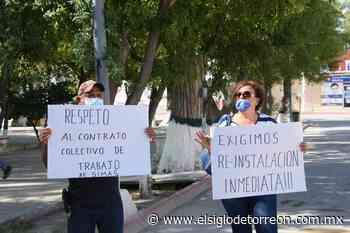 Realizan manifestación por despidos en Simas de San Buenaventura - El Siglo de Torreón