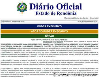 Em nova portaria, só Ariquemes, Jaru e Vilhena passam para a fase 2 do distanciamento social - Jornal Rondoniagora
