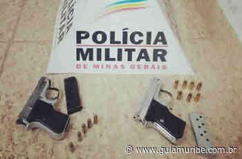 Mulher é presa com duas pistolas e munições em Patrocinio do Muriaé - Guia Muriaé