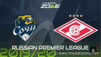 2019-20 Russian Premier League – Sochi vs Spartak Moscow Preview & Prediction - The Stats Zone