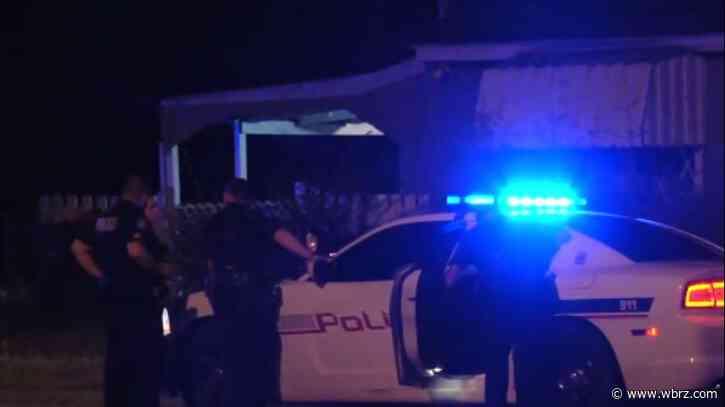 Heavy police presence on Longfellow Drive near Evangeline Street