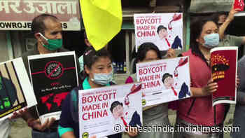 Tibetan Youth Congress protests against China in Dharmashala