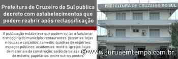 Prefeitura de Cruzeiro do Sul publica decreto com estabelecimentos que podem reabrir após reclassificação - Jurua em Tempo
