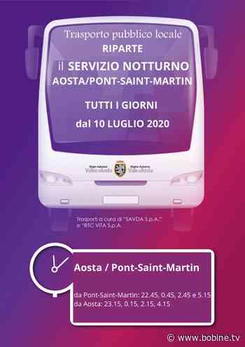 Ripristinati i collegamenti notturni in autobus fra Pont-Saint-Martin e Aosta - Bobine.tv