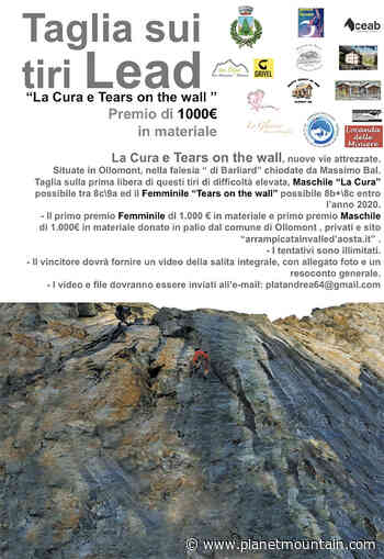 Taglia sui tiri Lead nella falesia Barliard a Ollomont, Valle d'Aosta - PlanetMountain
