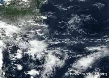 NASA tracks tropical storm fay's development and strongest side