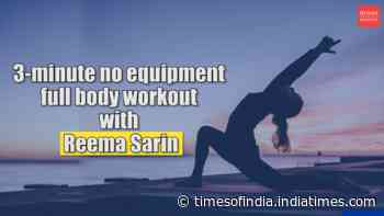 3-minute no equipment full body workout with Reema Sarin