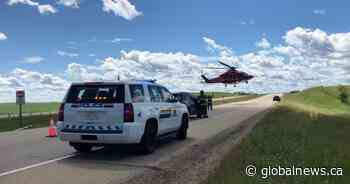 1 airlifted, 3 transported to hospital after Friday crash on QEII