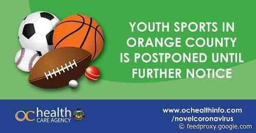 Youth sports practices postponed in Orange County due to new State guidance