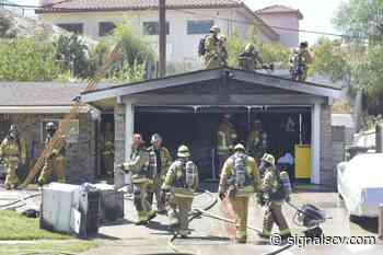 Garage fire reported in Canyon Country, emergency personnel responding - Santa Clarita Valley Signal