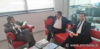 Marsilio in visita alla Infosat del presidente del Teramo - emmelle.it