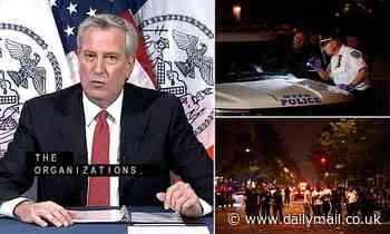 Bill de Blasio orders MORE NYC cops as gun violence surges