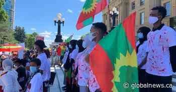 Rally at Alberta legislature to protest Ethiopian government after singer killed